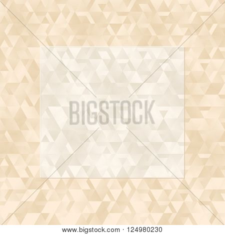 creamy textured background with banner - vector illustration