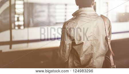 Businessman Waiting Passenger African Descent Concept