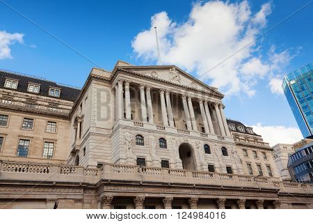 The Bank of England in Threadneedle Street London