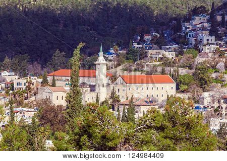 Catholic ?onvent Ein Kerem Jerusalem city Israel