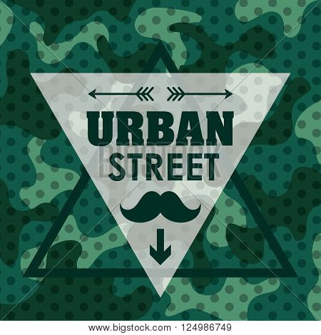 street and urban concept with style icon design, vector illustration 10 eps graphic.