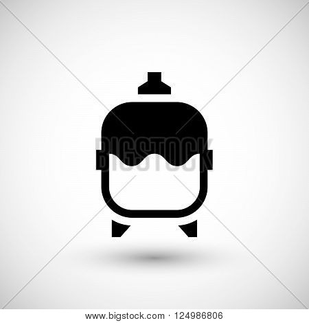 Expansion tank icon isolated on grey. Vector illustration