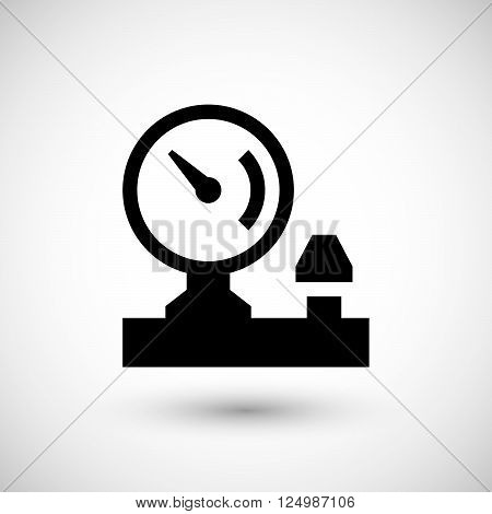Manometer icon isolated on grey. Vector illustration