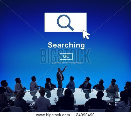 Searching SEO Homepage Navigation Information Concept
