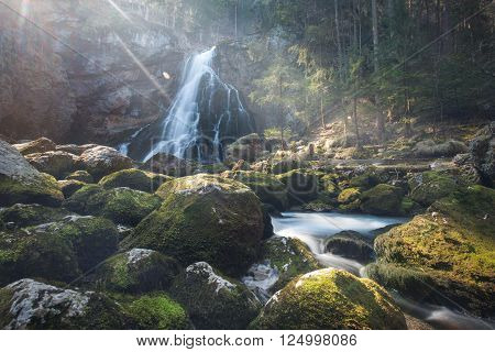 Waterfall In Golling