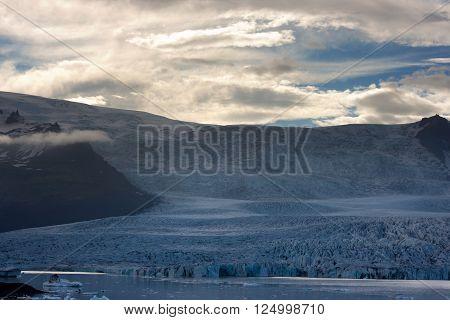 Vatnajokull glacier at the south of Iceland.