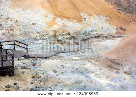 Seltun Geothermal Area In Reykjanes Peninsula Of Southern Iceland.