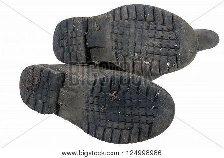 Tread Pattern On Sole Of Wellington Boots