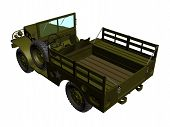pic of humvee  - illustration of a green army car isolated - JPG