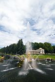 stock photo of samson  - The Samson Fountain and Sea Channel at Peterhof - JPG