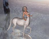 picture of centaur  - Silver - JPG