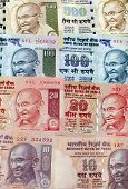 picture of mahatma gandhi  - Close up Indian Rupee bank notes background - JPG