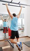 Постер, плакат: Человек фитнес тренировки