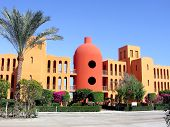 Exotic architecture in El Gouna, Egypt.