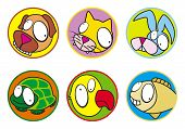 stock photo of the hare tortoise  - Pets Icon set - JPG
