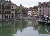 Medieval Palace 1 And Tourists - Annecy poster