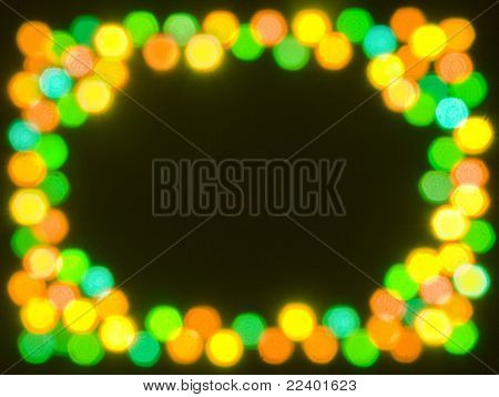 Festive Christmas light background with Copy Space
