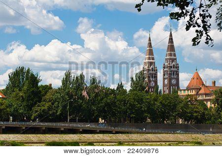 Votive Church From The Tisza Coast