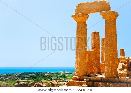 Temple Of Juno In Valley Of The Temples In Agrigento, Sicily