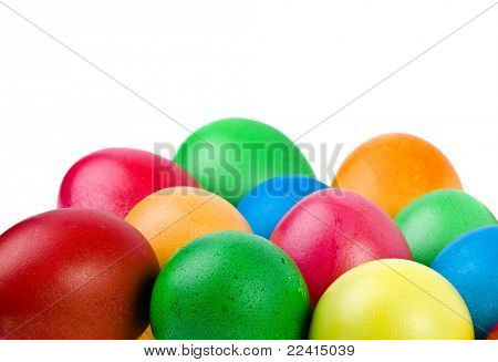 color easter egg isolated on white background