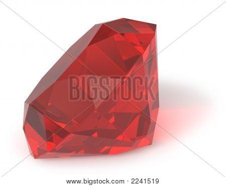 Ruby Gemstone / Isolated