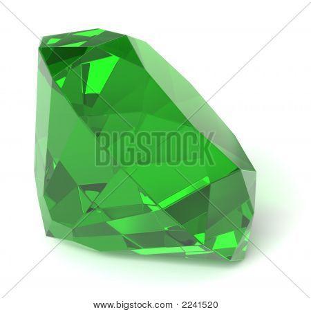 Emerald Gemstone / Isolated
