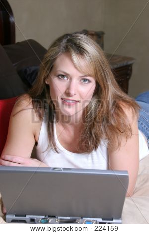Woman With Wireless Laptop