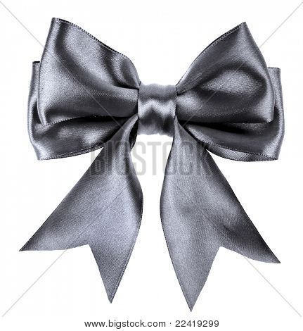 Schwarze Schleife Bow isolated on white