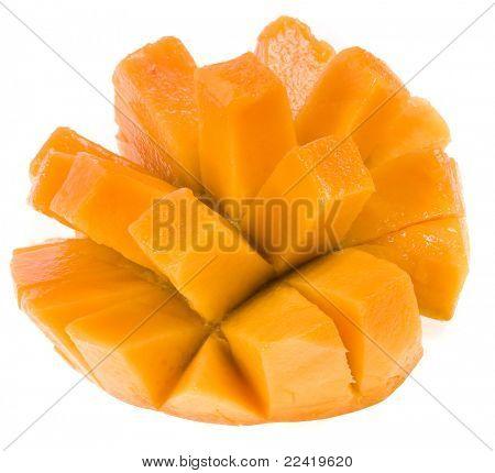 Fresh mango isolated on white
