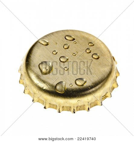 Bier-Flasche isolated on white background