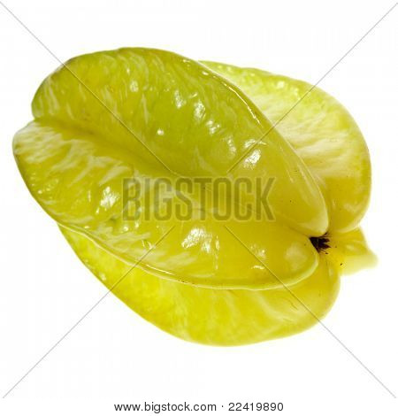 carambola fruit on the white background