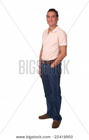 Full Length Portrait of Attractive Man