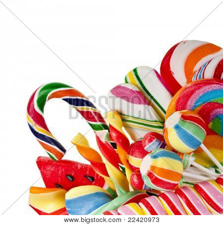 colorful lollipop isolated on white