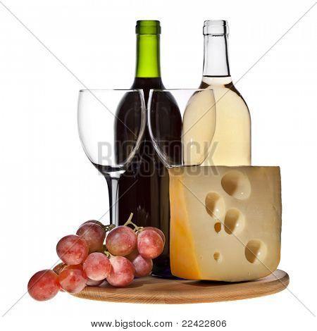 Uva de vino con aislamiento de queso