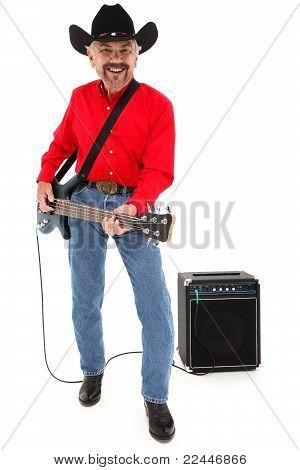 Músico del país atractivo feliz edad 75