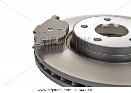 Brake Disk And One Brake Pad