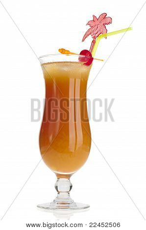 Hurricane Glass Of Campari Orange