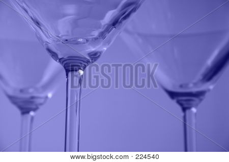 Martini Glasses Close-up
