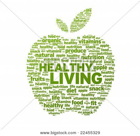 Healthy Living Apple Illustration