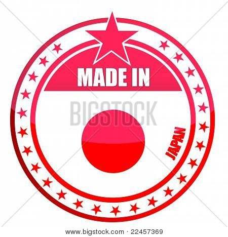 made in japan seal illustration design