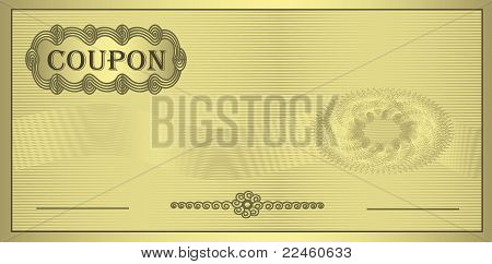 raster Coupon gold ornament certificate template