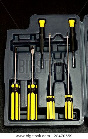 Screw driver tool box