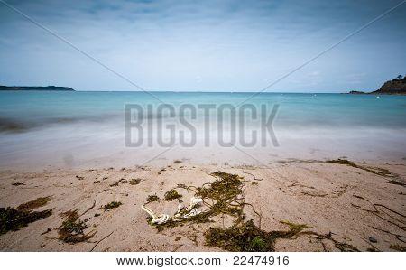 Long Exposure Photo Of Beach And Sea