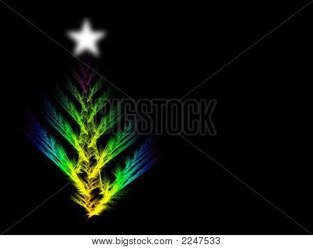 Xmas Tree Star And Copyspace