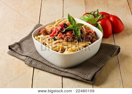 Pasta With Italian Sausage Meat Sauce