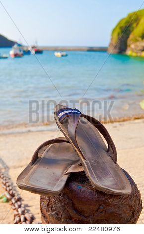 Summer Concept, Sandals By The Beach