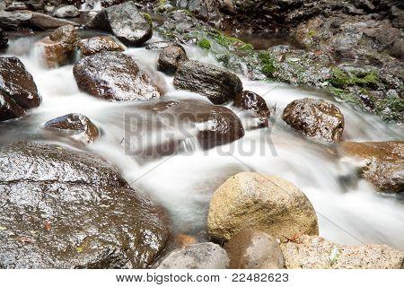 Cascading Waters On Rocks (lamington National Park, Qld, Australia)
