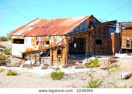 Old abandoned mining shack