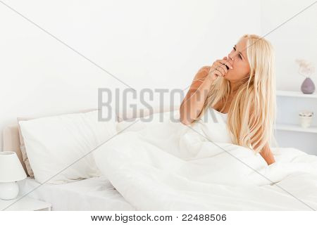 Lovely Woman Yawning