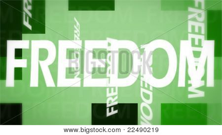 Creative Image Of Freedom Concept